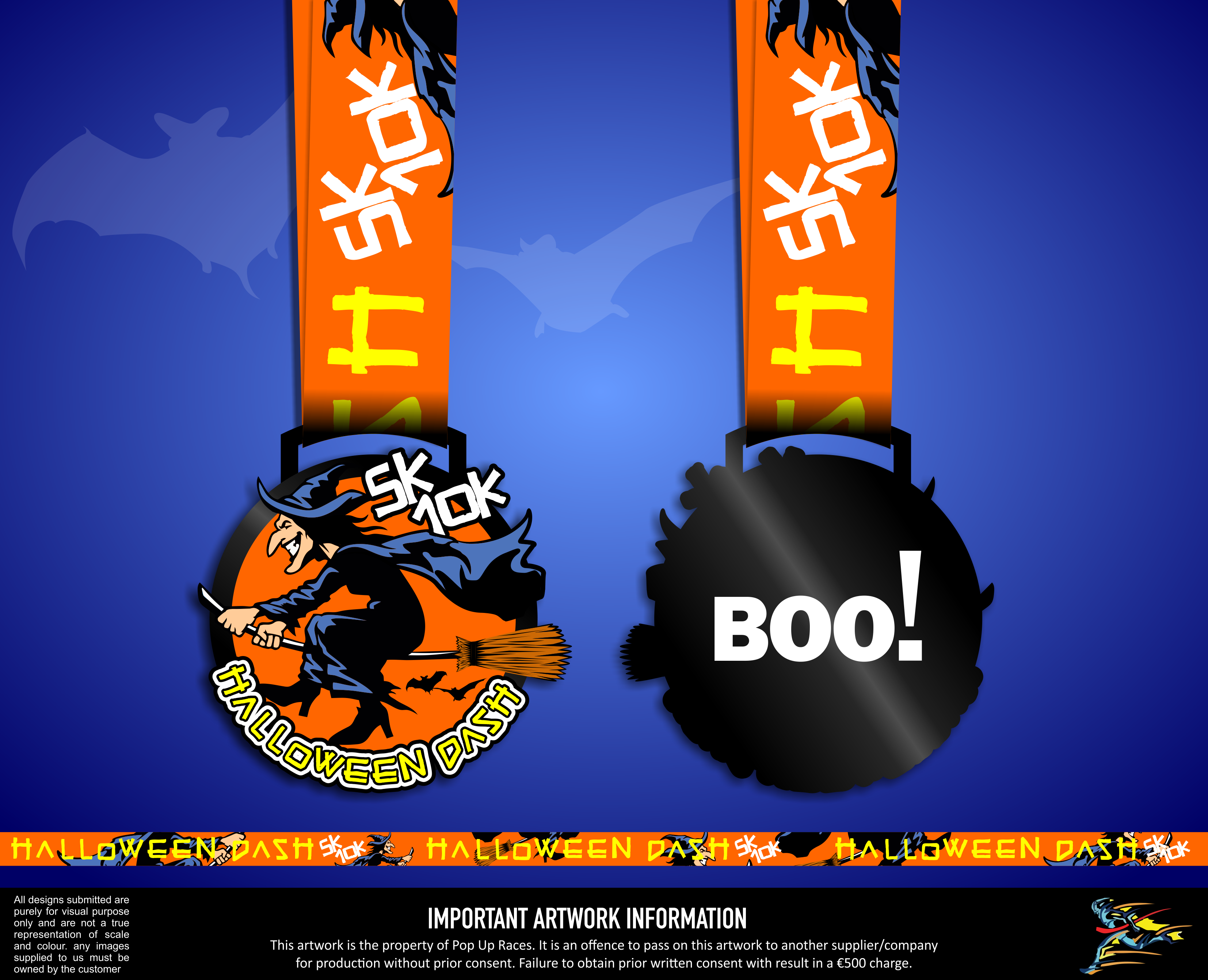2020 Halloween Run Time Halloween spooky 5k/10k virtual run/walk   Pop Up Races